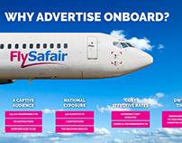 FlySafair Rate Card Design
