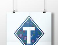"Typographic Poster Design- ""T"""