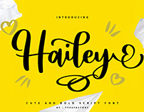 Hailey - Curly Script Font
