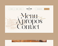 Design d'interface - Site du restaurant Vallier
