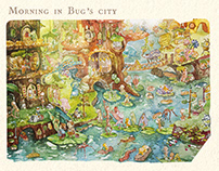 TINY CITY - an illustrated city for little bugs