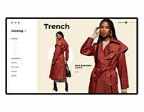 UX/UI Online store women's clothing