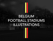 Belgium Football Stadiums Illustrations