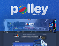 [Web Design] Polley Group: road freight, logistics