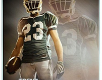 Football sports memory mates photography templates