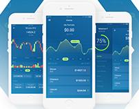 Cryptocurrency - IOS App Design