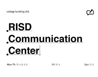 Rebranding: RISD Communication Center