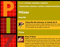 Site de commande en ligne de Pizza Hut