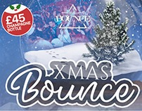 The Bounce Logo and Xmas Event flyer design