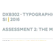 DXB302 Typographic Design