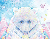 Illustration and cards «Spirit Bear»