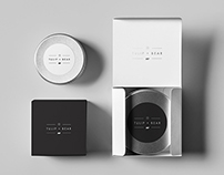 Tulip&Bear luxury soy candles branding
