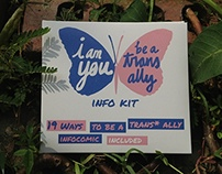 Design/illustration:I am you,Be a trans ally info kit