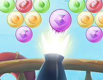 Game art and UI for BubbleSplash game