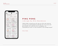 Redesign PING PONG