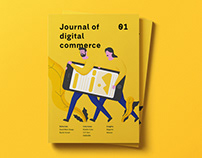 Magazine Illustrations / Journal of digital commerce