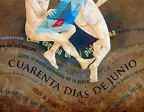 Portada para 40 Días de Junio - Huerga & Fierros editor