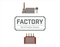 Factory vector graphics set