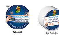 Duck Tape Dry Erase Label