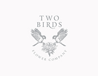 Logo Two Birds Flower Company