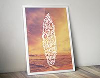 Typographie Surf