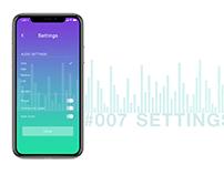 #007 Music Settings Screen