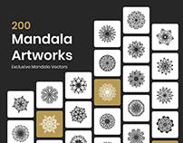 200 Mandala Art Vectors