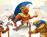 Egyptian sidescroller concepts