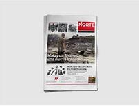 NORTE newspaper - editorial design