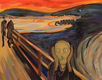 A Reinterpretation of Edvard Munch's Scream Series