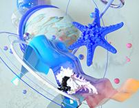 summer c4d concept art