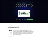 Youth Leadership Bootcamp - Landing Page