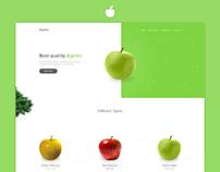 Apples Hompage Design