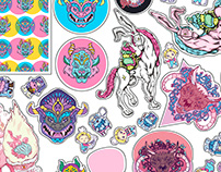 sweet bright vinyl stickers