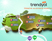 Trendyol - Turkey Shopping Map