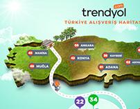Trendyol - Turkey Shopping Map