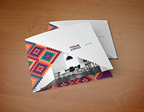 Square Modern Colorful Pattern Trifold