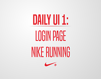 DailyUI #001: nike running login page