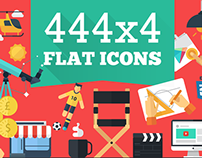 444x4 Flat Icons