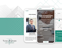 Landing page - law firm Tatsiy&Partners - UX/UI
