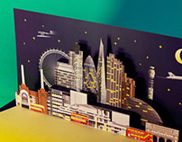 London Architecture Pop Up Card
