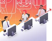 Skylife Business Magazine Illustrations #1
