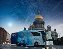 The new BUS of Futbol'nyj Klub ZENIT Sankt-Peterburg.