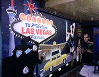 Sandy Station Vegas Nightlife Mural