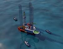 Jack up rig sinking
