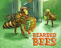 Bearded Bees Beer Label