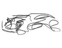 Blind Single-Line Sketches