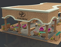 Cork Exhibition Stand made in 3D max and Vray