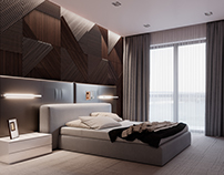 Bedroom Above the Dnipro River