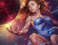 Empress of Starlight. Magazine cover art.